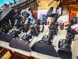 Kameras auf Tisch