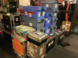 Cases und Kisten mit technischem Equipment
